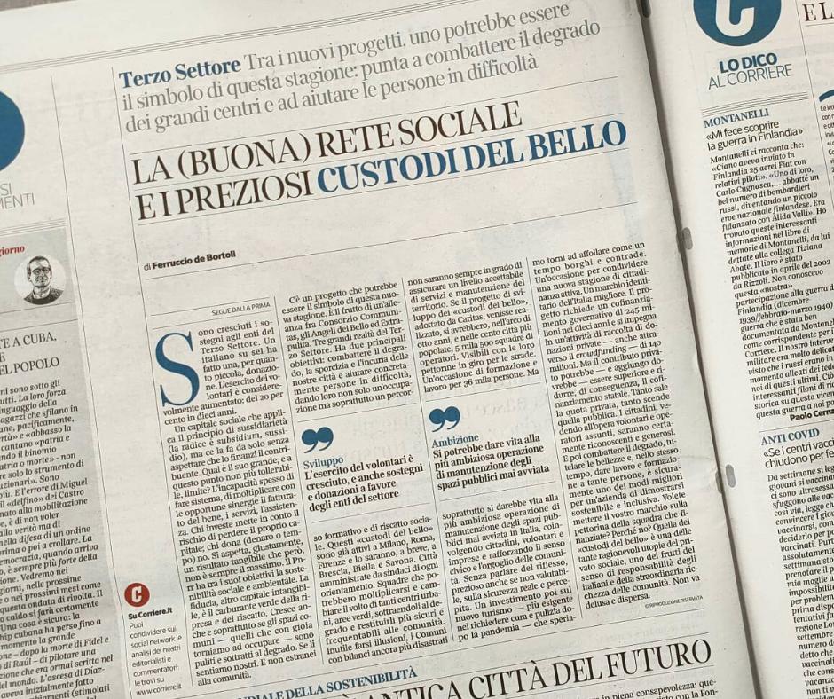 La (buona) rete sociale e i preziosi custodi del bello di Ferruccio de Bortoli (Corriere della Sera)