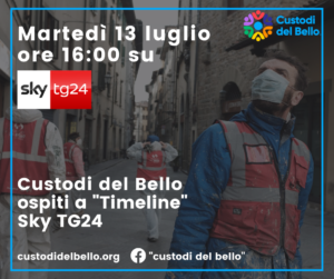 """""""Custodi del Bello"""" a Skytg24 ospiti della trasmissione """"TimeLine"""""""